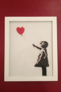The author's first completed Banksy original
