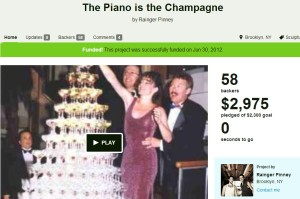 kickstarter piano champagne